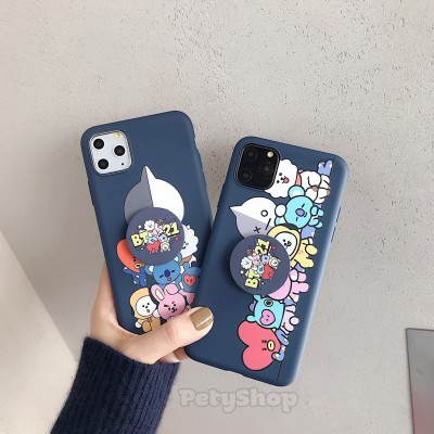 Ốp dẻo BT21 kèm socket VS2 iPhone XS Max